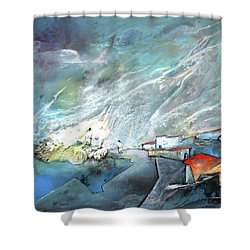 The Shores Of Galilee Shower Curtain by Miki De Goodaboom