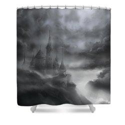 The Skull Castle Shower Curtain