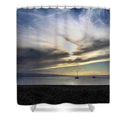 The Sky Is Exploding Shower Curtain by Laurie Search