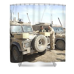The Snatch Land Rover Used Shower Curtain