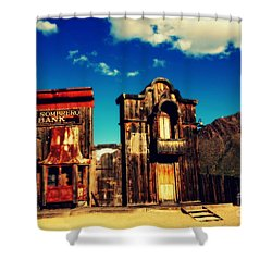 The Sombrero Bank In Old Tuscon Arizona Shower Curtain by Susanne Van Hulst