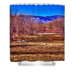 The South Platte Park Landscape Shower Curtain by David Patterson