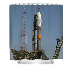 The Soyuz Rocket Shortly After Arrival Shower Curtain by Stocktrek Images
