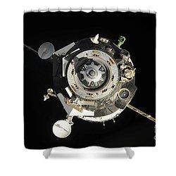 The Soyuz Tma-17 Spacecraft Departs Shower Curtain by Stocktrek Images