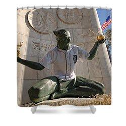 The Spirit Of Detroit Tigers Shower Curtain by Gordon Dean II