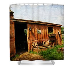 The Stable Shower Curtain by Paul Ward