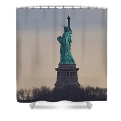 The Statue Of Liberty Shower Curtain by Bill Cannon
