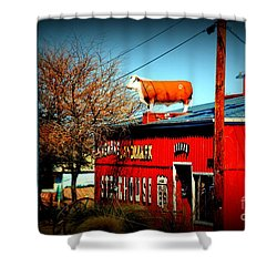 The Steakhouse On Route 66 Shower Curtain by Susanne Van Hulst