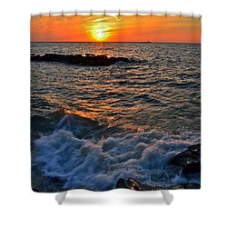 The Sun Is Wearing Shades Shower Curtain by Frozen in Time Fine Art Photography