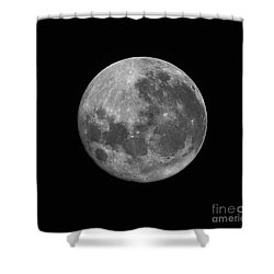 The Supermoon Of March 19, 2011 Shower Curtain by Phillip Jones