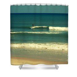 The Surfer Guy Shower Curtain by Susanne Van Hulst