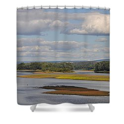 The Susquehanna River At Kingston Pa. Shower Curtain by Bill Cannon