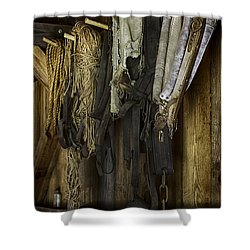 The Tack Room Wall Shower Curtain by Lynn Palmer