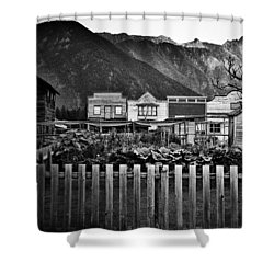 The Town Shower Curtain by Empty Wall