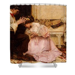 The Two Crowns Shower Curtain by Charles Sims
