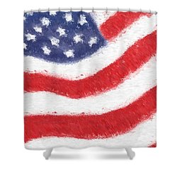 The United States Flag Shower Curtain by Heidi Smith