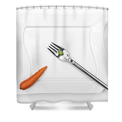 The Vegetables Shower Curtain by Joana Kruse