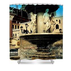 The Venetian Fountain In Las Vegas Shower Curtain by Susanne Van Hulst