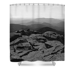 The View North From Mt. Marcy Black And White Three Shower Curtain