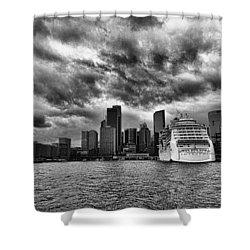 The View To Circular Quay Shower Curtain by Douglas Barnard