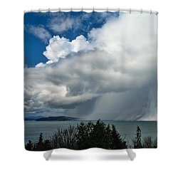 Shower Curtain featuring the photograph The Wall by David Gleeson