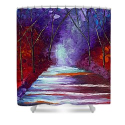 The Watchers Shower Curtain by Jessilyn Park