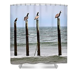 The Watchers Shower Curtain