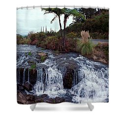 The Waterfall In The Stream Shower Curtain