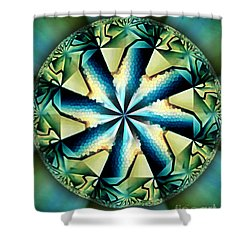 The Waves Of Silk Shower Curtain by Danuta Bennett