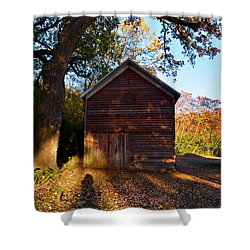 The Weathered Shed Shower Curtain