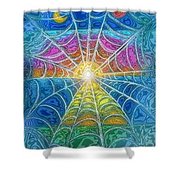 The Web Of Wyrd Shower Curtain by Diana Haronis