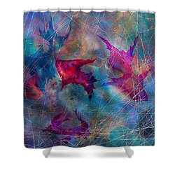 The Webs Of Life Shower Curtain by Rachel Christine Nowicki