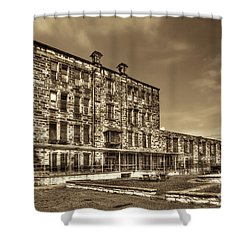 The West Virginia State Penitentiary Backside Shower Curtain by Dan Friend