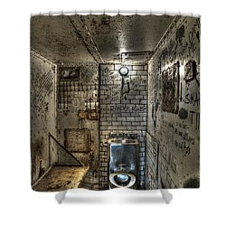 The West Virginia State Penitentiary Cell Shower Curtain by Dan Friend