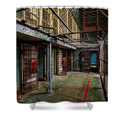 The West Virginia State Penitentiary Cells Shower Curtain by Dan Friend