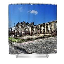 The West Virginia State Penitentiary Courtyard Outside Shower Curtain by Dan Friend