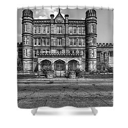 The West Virginia State Penitentiary Front Shower Curtain by Dan Friend