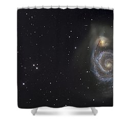 The Whirlpool Galaxy Shower Curtain by R Jay GaBany