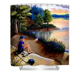 The Wish To Fish Shower Curtain