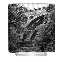 The Wissahickon Creek And Henry Avenue Bridge Shower Curtain by Bill Cannon