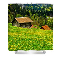 The Yellow Around Shower Curtain by Syed Aqueel