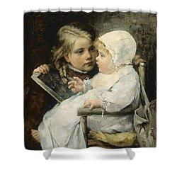 The Young Artist Shower Curtain by Ellen Kendall Baker