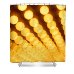 Theater Lights In Rows Defocused Shower Curtain