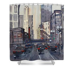 Theatre District - Chicago Shower Curtain by Ryan Radke