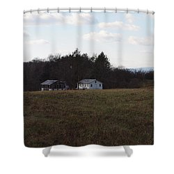 These Old Barns Shower Curtain by Robert Margetts