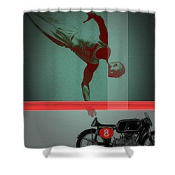 They Crossed That Line Shower Curtain by Naxart Studio