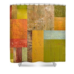 Thick Paint Abstract I Shower Curtain by Michelle Calkins