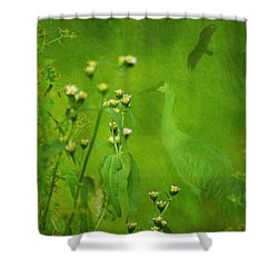 Think Green Shower Curtain
