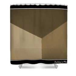 Think Outside Or Inside The Box    Optical Illusion Shower Curtain by Debbie Portwood