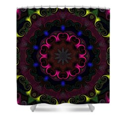 Think Pink Shower Curtain by Alec Drake